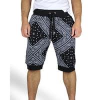 Bandana Print Jogger Shorts