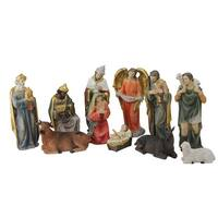 """11 Piece Multicolored Resin Nativity and Epiphany Set 8"""""""