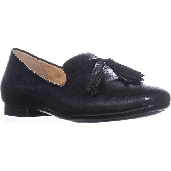 naturalizer Elly Slip-On Tassel Loafers, Black Leather