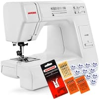 Janome HD3000 Heavy Duty Sewing Machine + 5-Piece VIP Package