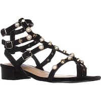 Steve Madden Crowne Flat Gladiator Sandals, Black
