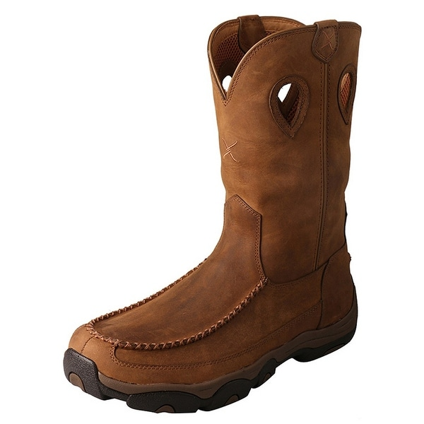Twisted X Outdoor Boot Men Hiking Waterproof Red Buckle Saddle
