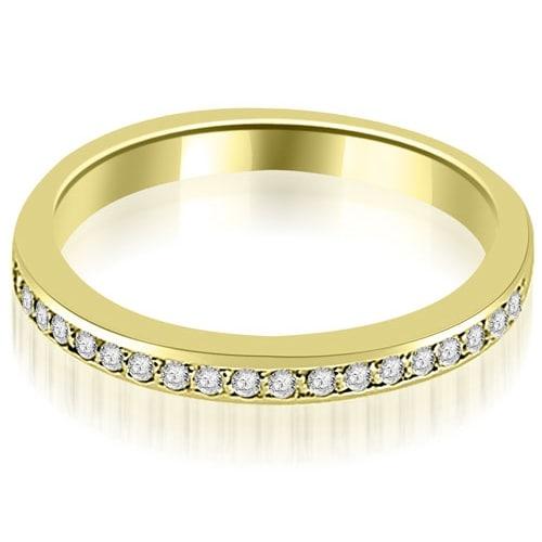 0.20 cttw. 14K Yellow Gold Prong Set Round Diamond Wedding Band