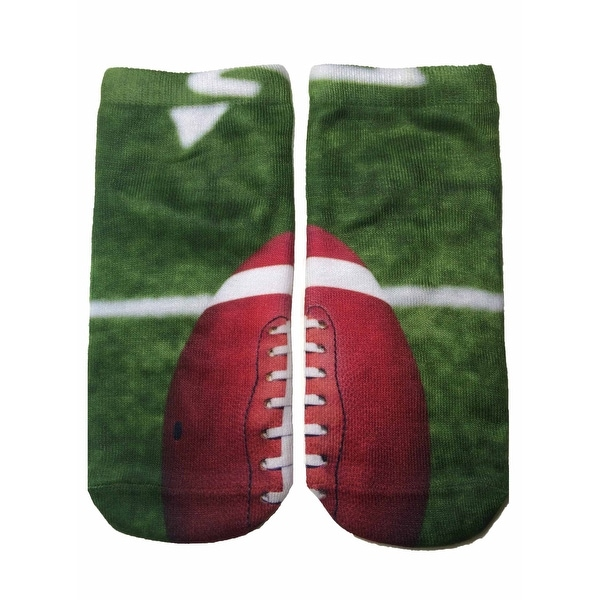 Living Royal Photo Print Ankle Socks Football - Green