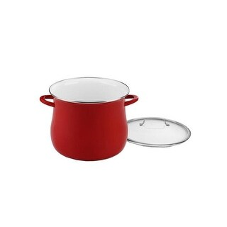 """""""Cuisinart 12 quart Stockpot with Cover - Red Stock Pot"""""""