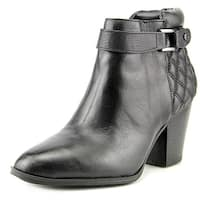 Alfani Womens WAKEFELD Leather Pointed Toe Ankle Cowboy Boots