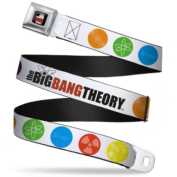 The Big Bang Theory Full Color Black White Red The Big Bang Theory DNA Atom Seatbelt Belt