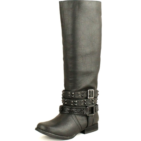 Not Rated Womens Love Stoned Riding Boots - Tan