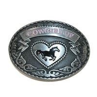 CTM® Women's Cowgirl Up Belt Buckle