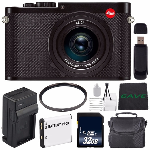 Leica Q (Typ 116) Digital Camera + Replacement Lithium Ion Battery + External Rapid Charger + 32GB Memory Card Bundle