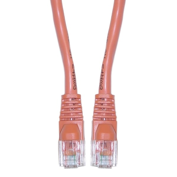 Offex Cat6 Orange Ethernet Crossover Cable, Snagless/Molded Boot, 10 foot