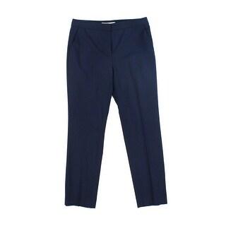 Diane von Furstenberg NEW Blue Womens Size 8 Flat Front Dress Pants