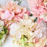 """G Home Collection Luxury Silk Hydrangea Peony Bouquet in Various Colors 12"""" Tall"""