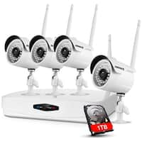 ANNKE 4CH 1080P HD WIFI Plug and Play Video Cameras Security System