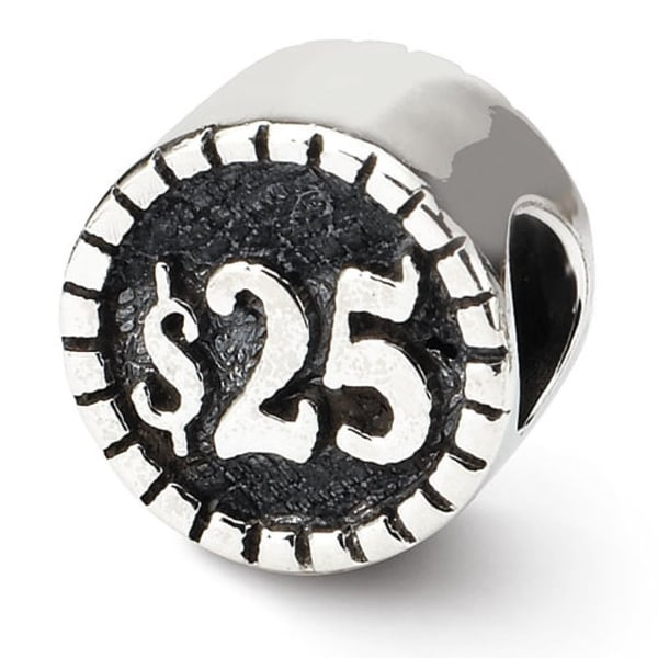 Sterling Silver Reflections 2-sided Vegas Bead (4mm Diameter Hole)