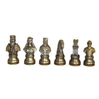 Pewter Camelot Chessmen Set - Silver