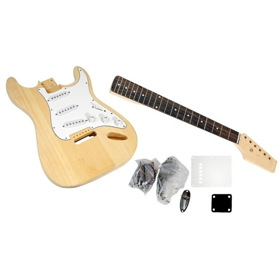 Unfinished Strat Electric Guitar Kit - You Build The Guitar