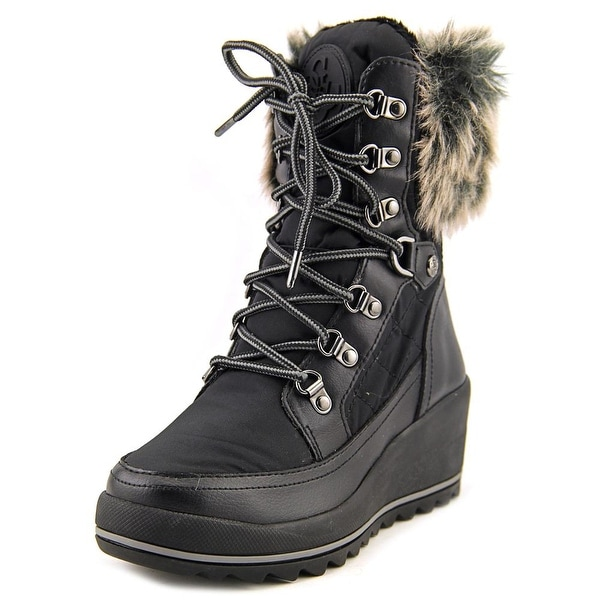 Guess Leland Round Toe Canvas Winter Boot