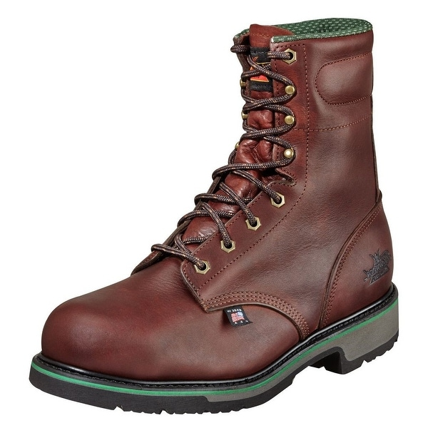 "Thorogood Work Boots Mens 8"" Sport SD Type ST Black Walnut 804-4721"
