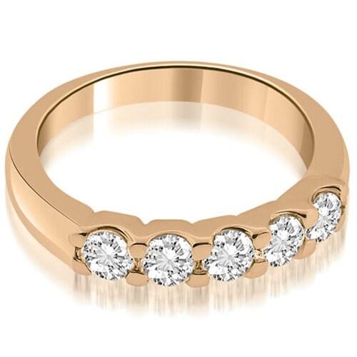 0.50 cttw. 14K Rose Gold Prong Set Round Diamond Wedding Band