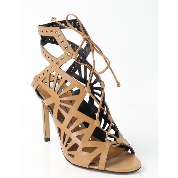Dolve Vita NEW Brown Helena Shoes 10M Strappy Leather Sandals