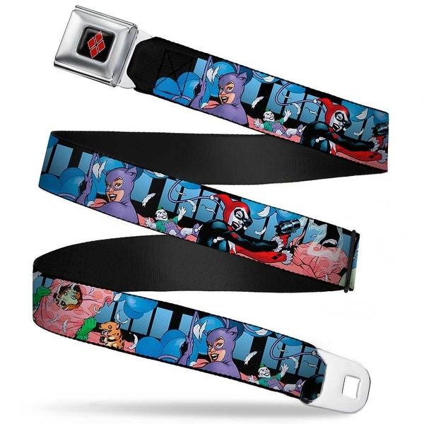 Harley Quinn Diamond Full Color Black Red Harley Quinn Poison Ivy Catwoman Seatbelt Belt