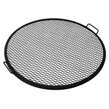Sunnydaze X-Marks Fire Pit Cooking Grill - Multiple Sizes Available - Black