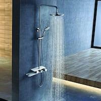 Costway Stainless Steel Shower Column Panel Rainfall Shower Wall Mount w/Hand Shower New