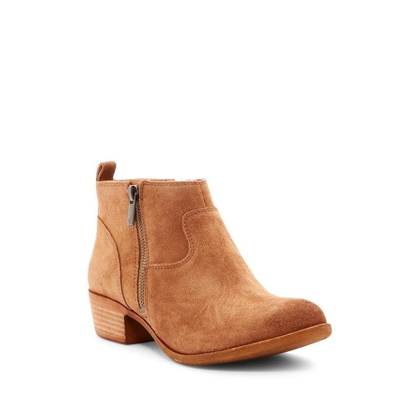 Lucky Brand Womens Benniee Leather Almond Toe Ankle Fashion Boots - 7.5
