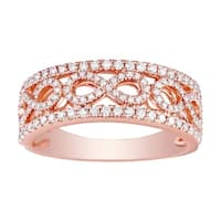 Prism Jewel 0.52Ct G-H/SI1 Round Brilliant Cut Natural Diamond Infinity Wedding Ring - White G-H