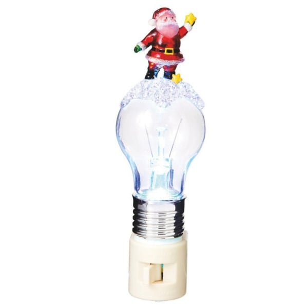"6.5"" Santa Claus and Stars on an LED Bulb Decorative Christmas Night Light"