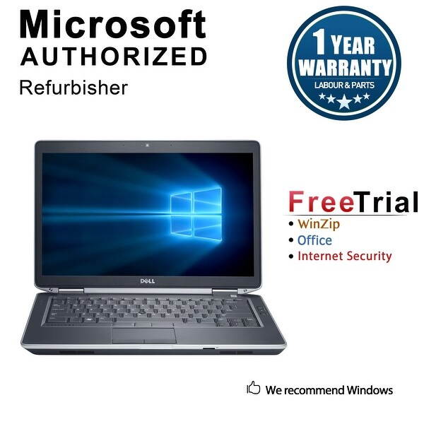"Refurbished Dell Latitude E6430 14.0"" Laptop Intel Core i5 3320M 2.6G 8G DDR3 120G SSD DVD Win 10 Pro 1 Year Warranty - Black"