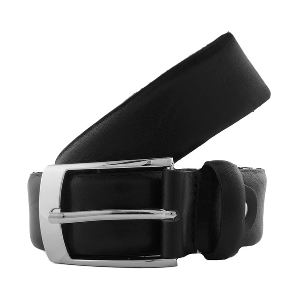 Romeo Gigli T735/35 NERO Black Distressed Leather Adjustable Belt