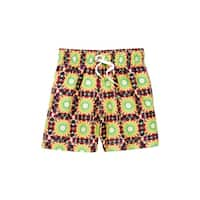Azul Boys Multi Color Yellow Drawstring Waist Eclipse Swim Shorts