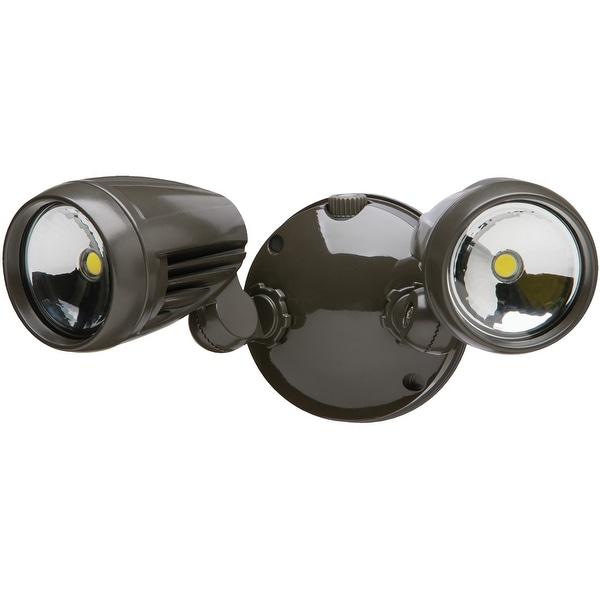 Heath Zenith HZ-8486-BZ-A Dual Head LED Dusk To Dawn Flood Light, 1526 Lumens