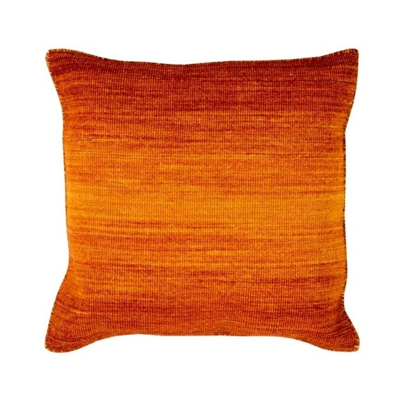 "20"" Ombre Ambience Cadmium Orange, Dark Pastel Red and Amber Decorative Throw Pillow"