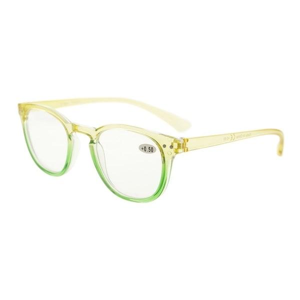 Eyekepper Fashion Readers Womens Reading Glasses (Yellow-Green Frame, +0.50)