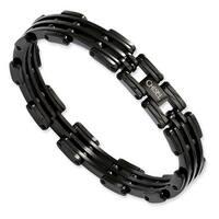 Chisel Black Plated Stainless Steel Bracelet