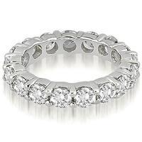 3.40 cttw. 14K White Gold Round Diamond Eternity Ring,HI,SI1-2