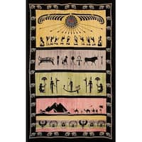 Handmade 100% Cotton Eye of Horus Tapestry Tablecloth Throw Spread Dorm Decor Beach Sheet Full 88x104