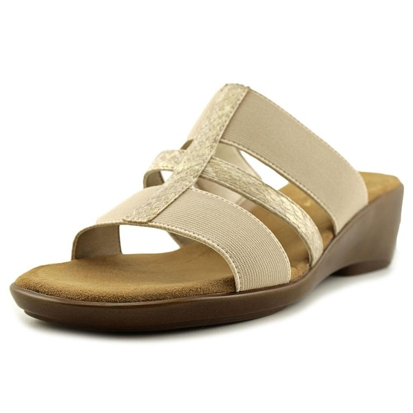 Aerosoles Flaunt Women Open Toe Synthetic Tan Wedge Sandal