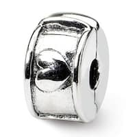 Sterling Silver Reflections Hinged Heart Clip Bead (4mm Diameter Hole)