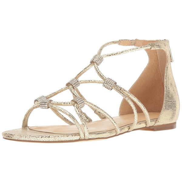 Ivanka Trump Womens Chaley2 Leather Open Toe Casual Strappy Sandals