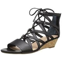 Franco Sarto Womens L-Brixie Open Toe Casual Platform Sandals
