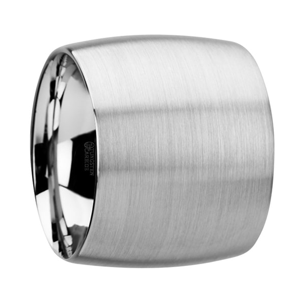 THORSTEN - CORONADO Domed Tungsten Carbide Ring with Brushed Finish - 20 mm