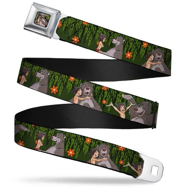 Mowgli & Baloo Hugging Leaves Full Color black Greens Mowgli & Baloo 3 Seatbelt Belt