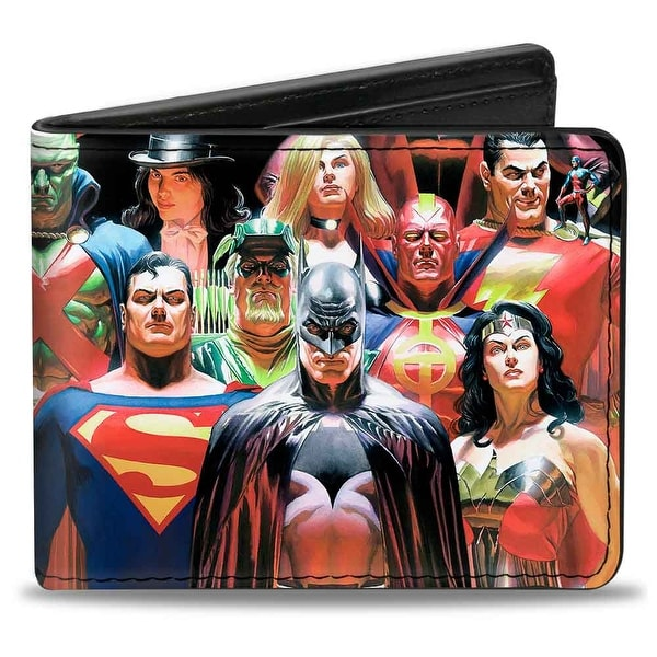 Justice League Justice Issue #1 18 Character Cover Pose Bi Fold Wallet - One Size Fits most