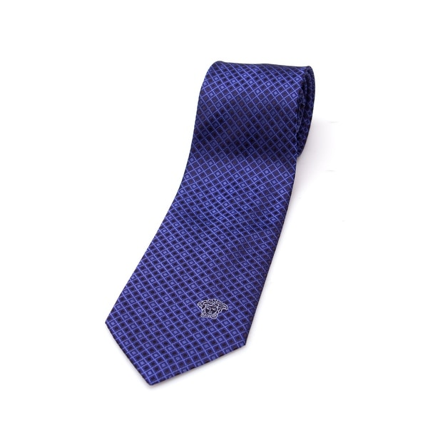 Versace Men's Medusa Head Slim Silk Necktie
