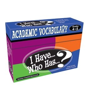 I Have Who Has Gr 4-5 Academic