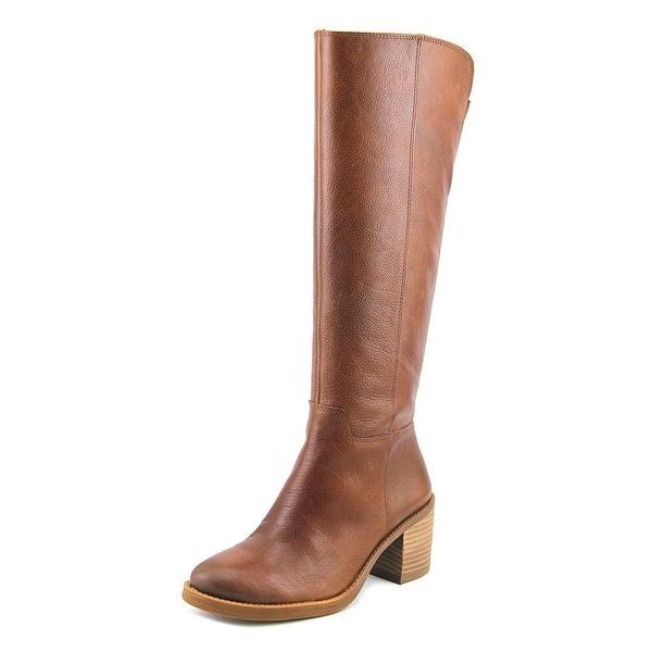 Lucky Brand Ritten Women Round Toe Leather Brown Knee High Boot